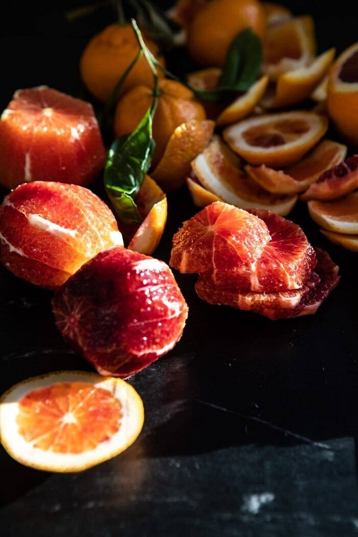 raw blood orange