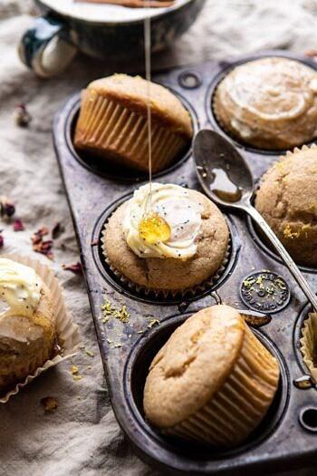 Vanilla Chai Lemon Ricotta Muffins.