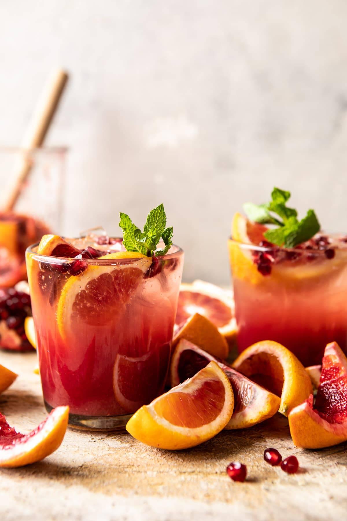 Winter Citrus Tequila Smash   halfbakedharvest.com #citrus #cocktail #healthyrecipes #drinkrecipes