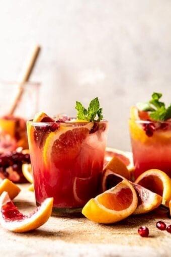 Winter Citrus Tequila Smash | halfbakedharvest.com #citrus #cocktail #healthyrecipes #drinkrecipes
