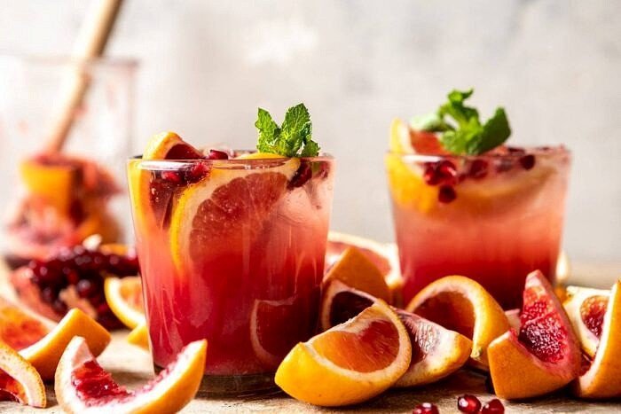 horizontal photo Winter Citrus Tequila Smash