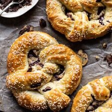 Chocolate Chip Cookie Stuffed Soft Pretzels.