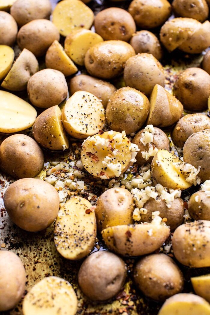 potatoes before roasting