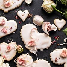 Lemon Rose Shortbread Cookies.
