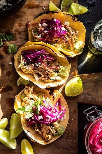 Slow Cooker Chipotle Orange Street Tacos | halfbakedharvest.com #tacos #instantpot #crockpot #easyrecipes #healthy