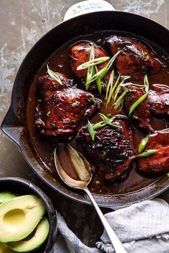 Filipino Coconut Adobo Chicken | halfbakedharvest.com #chicken #easyrecipes #skilletrecipes #adobochicken