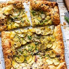 Cheesy Potato Chive Galette.