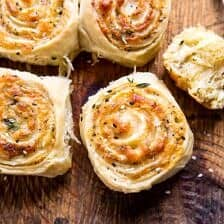 Herby Everything Cheddar Swirl Buns.