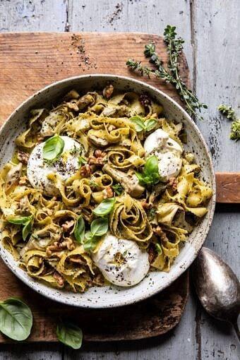 Roasted Lemon Artichoke and Browned Butter Pasta | halfbakedharvest.com #pasta #burrata #easyrecipes #Italian #spring #summer