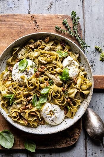 Roasted Lemon Artichoke and Browned Butter Pasta.