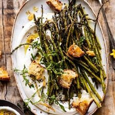 Sesame Roasted Asparagus with Whipped Feta.
