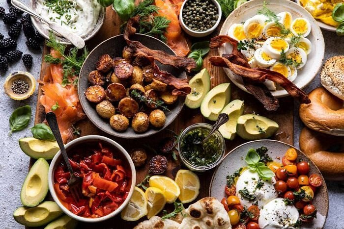 horizontal photo of Ultimate Spring Brunch Board
