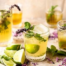 White Tea and Muddled Basil Mojito | halfbakedharvest.com #cocktails #healthyrecipes #spring #summer #mojito #rum