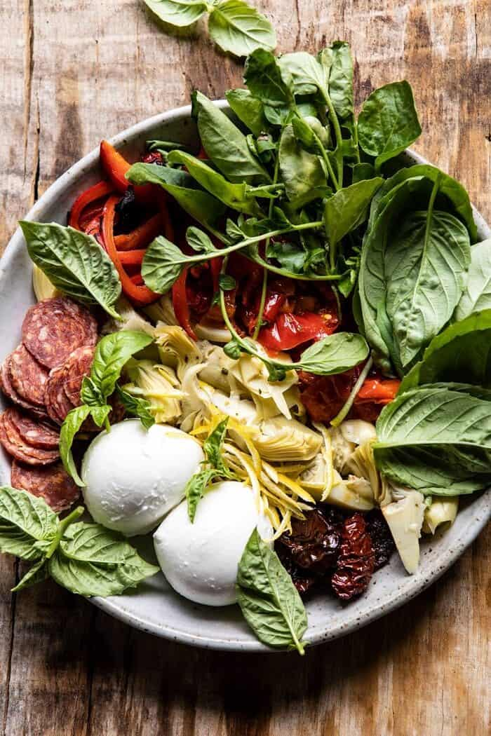 Antipasto Pasta Salad ingredients