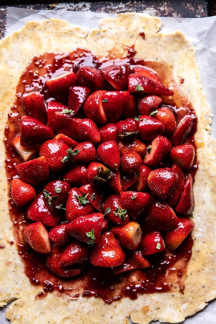 Jammy Strawberry Galette before baking