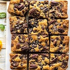 Kentucky Derby Pie Chocolate Chip Cookie Bars.