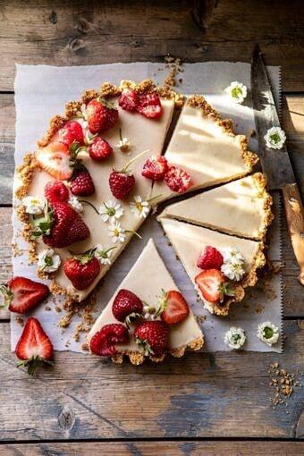 No Fuss Lemon Tart | halfbakedharvest.com #lemontart #dessert #summer #nobake #easyrecipes