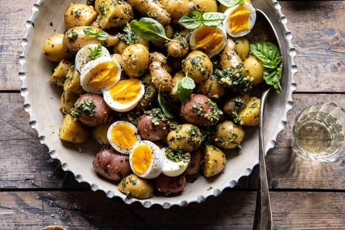 Pesto Potato Salad | halfbakedharvest.com #potatosalad #easyrecipes #pesto #summerrecipes