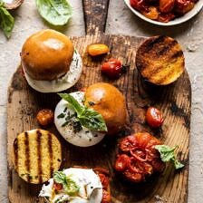 Roasted Caprese Burrata Sliders.