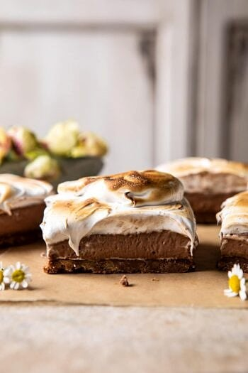 S'mores Chocolate Mousse Bars.