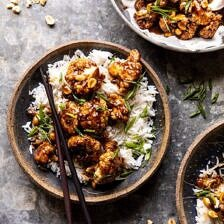 Better Than Takeout Kung Pao Cauliflower | halfbakedharvest.com #vegan #healthyrecipes #easyrecipes #vegetables