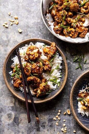 Better Than Takeout Kung Pao Cauliflower | halfbakedharvest.com #vegan #healthyrecipes #easyrecipes #vegetables
