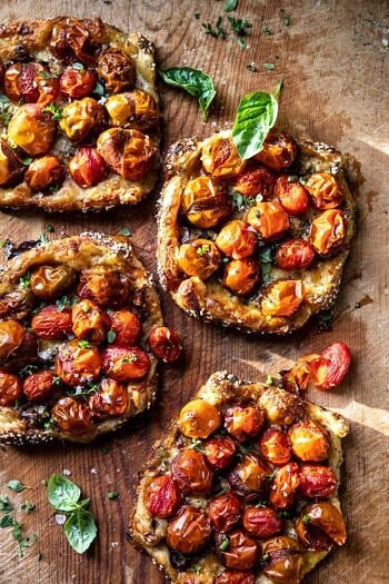 Caramelized Onion and Balsamic Tomato Tarts.