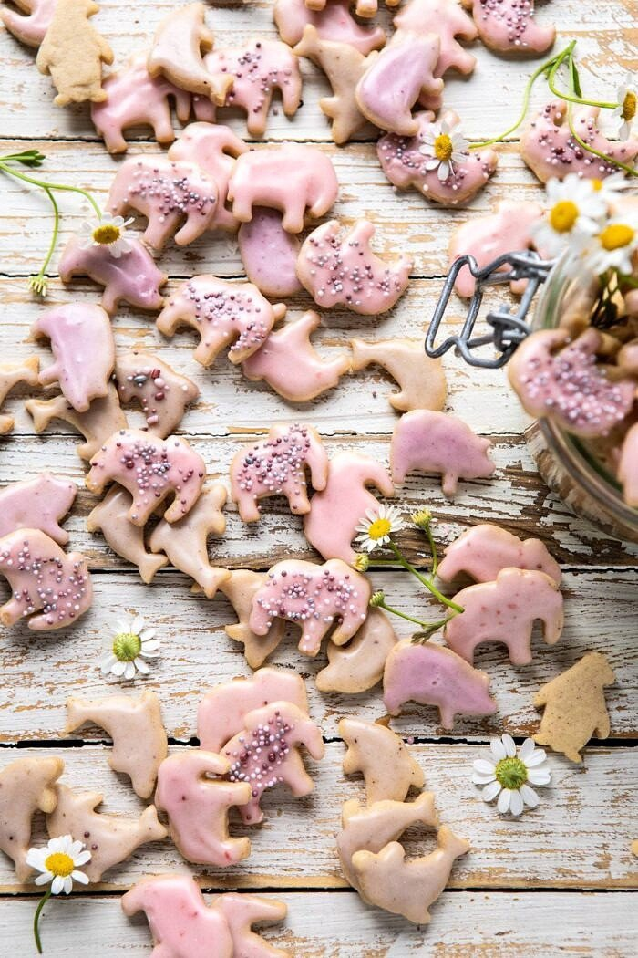 overhead photo of Homemade Animal Crackers