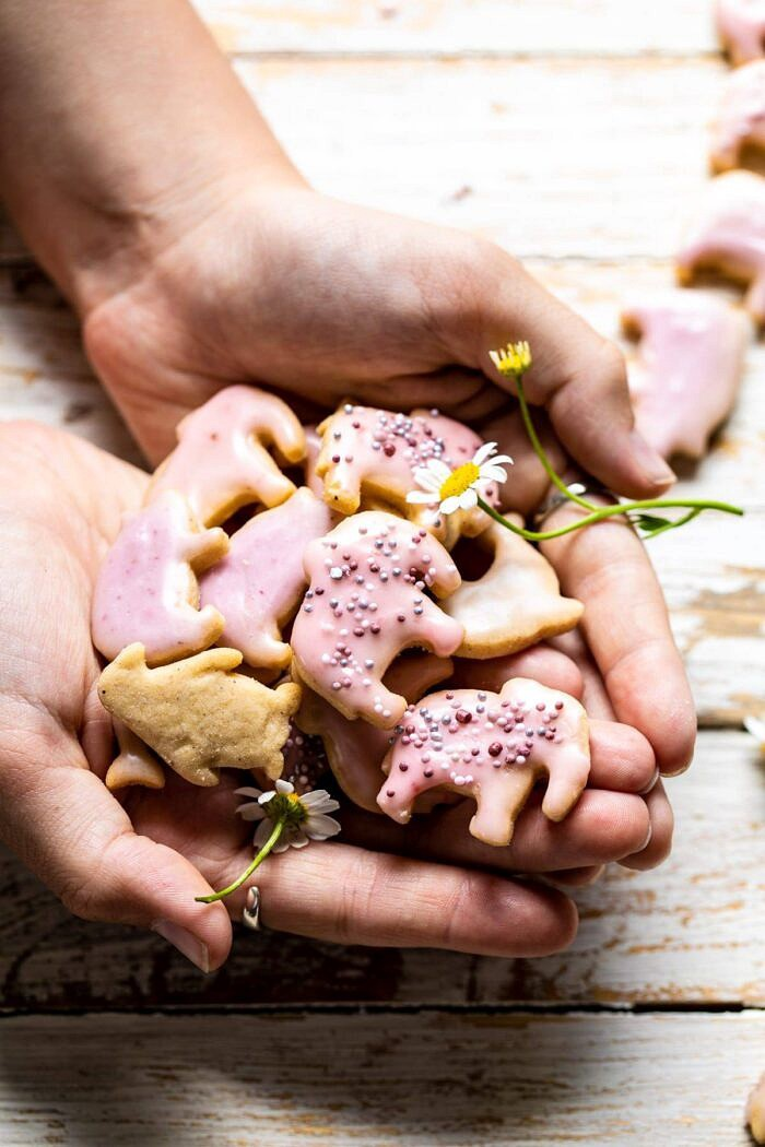 Homemade Animal Crackers being held in 2 hands