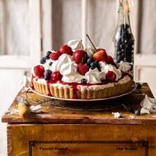 No-Bake Eton Mess Berry Cheesecake.