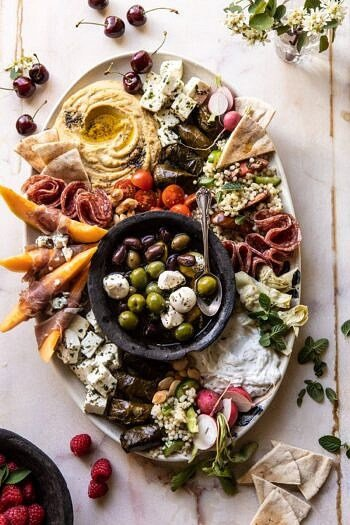 No Fuss Farmers Market Mezze Platter | halfbakedharvest.com #appetizer #easyrecipes #healthy #summer #4thofjuly