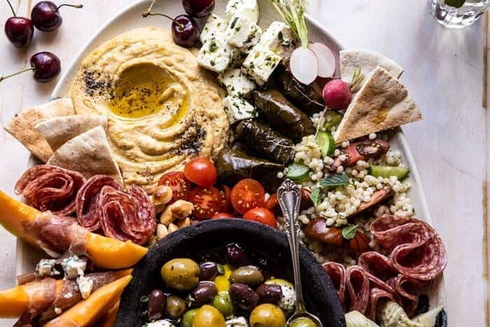 horizontal close up photo of No Fuss Farmers Market Mezze Platter