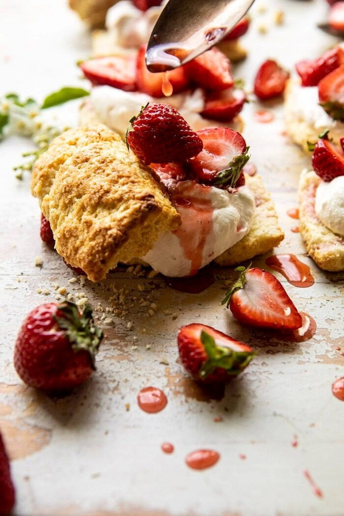The Best Strawberry Shortcakes | halfbakedharvest.com #shortcakes #strawberries #summer #strawberry