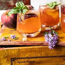 Balsamic Peach Spritz.
