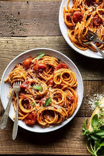 Bucatini Amatriciana | halfbakedharvest.com #pasta #easyrecipes #italian
