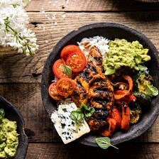 California Chicken, Veggie, Avocado and Rice Bowls.
