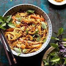 Spicy Peanut Noodles with Chili Garlic Oil.