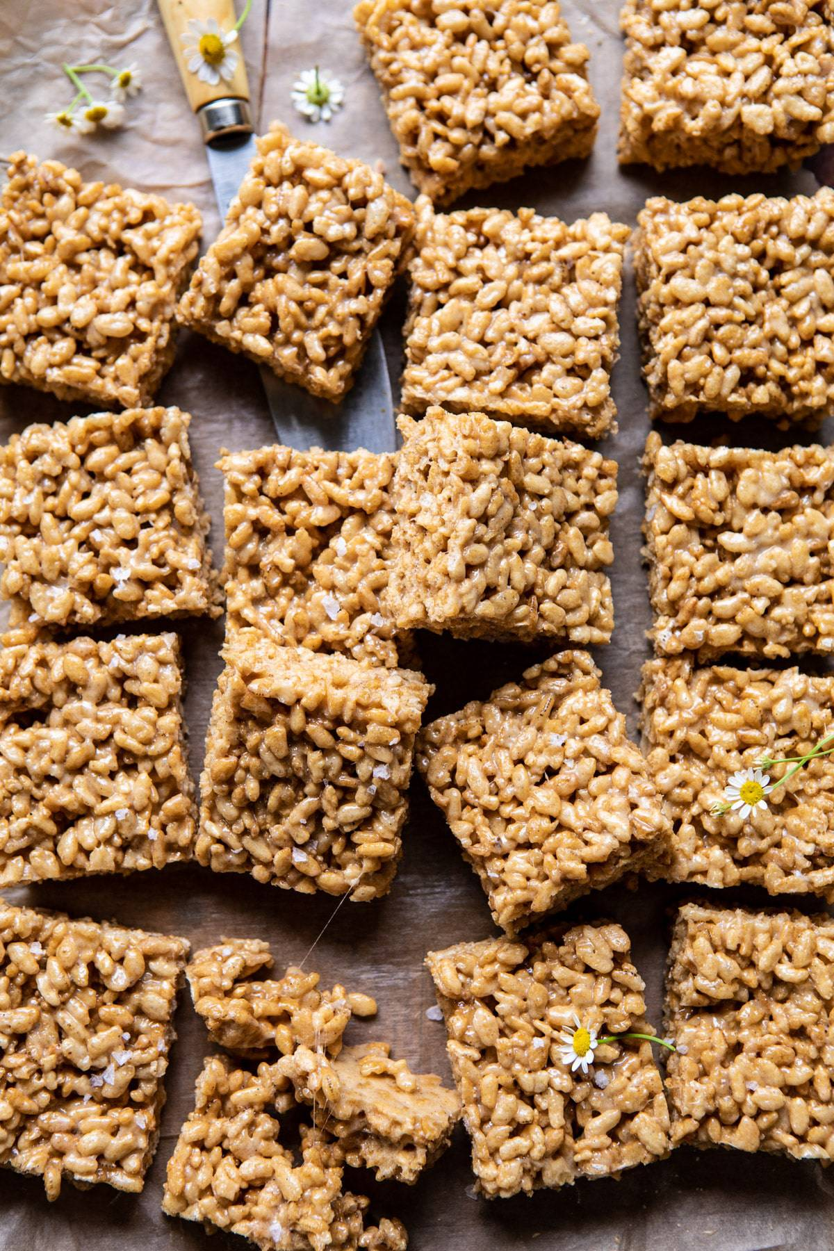 Better Than Mom S Brown Butter Rice Krispie Treats Half Baked