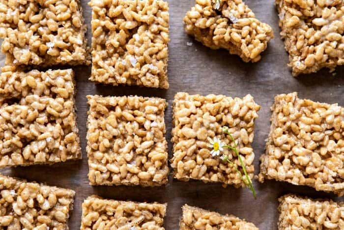 horizontal photo of Better Than Mom's Brown Butter Rice Krispie Treats