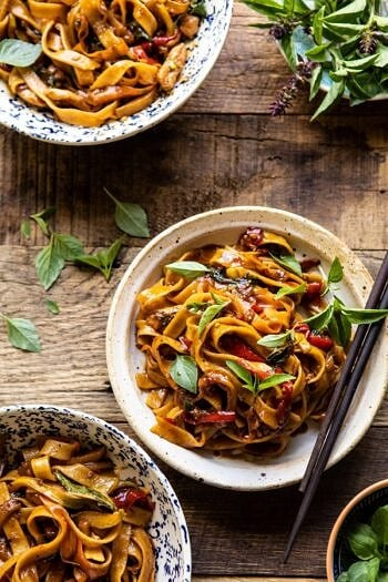 Better Than Takeout Thai Drunken Noodles | halfbakedharvest.com #takeout #noodles #weeknightrecipe #Thai