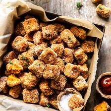 Baked Sweet Potato Parmesan Tater Tots | halfbakedharvest.com #sweetpotatoes #healthy #easyrecipes #gameday #tatertots