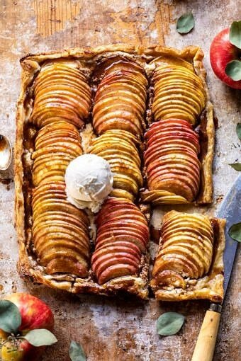 Chai Spiced Apple Ricotta Galette | halfbakedhavest.com #apple #pastry #fallrecipes #autumn