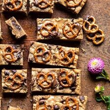 Chocolate Peanut Butter Pretzel Blondies.