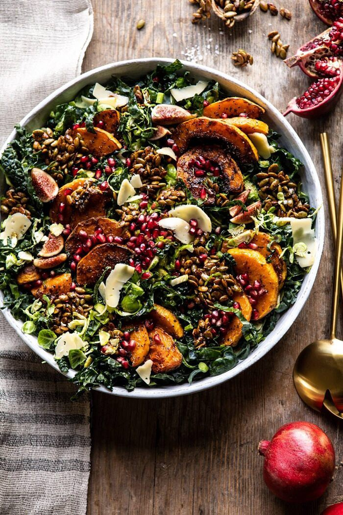 Fall Harvest Roasted Butternut Squash and Pomegranate Salad | halfbakedharvest.com #salad #autumnrecipes #easyrecipes #healthy #butternutsquash