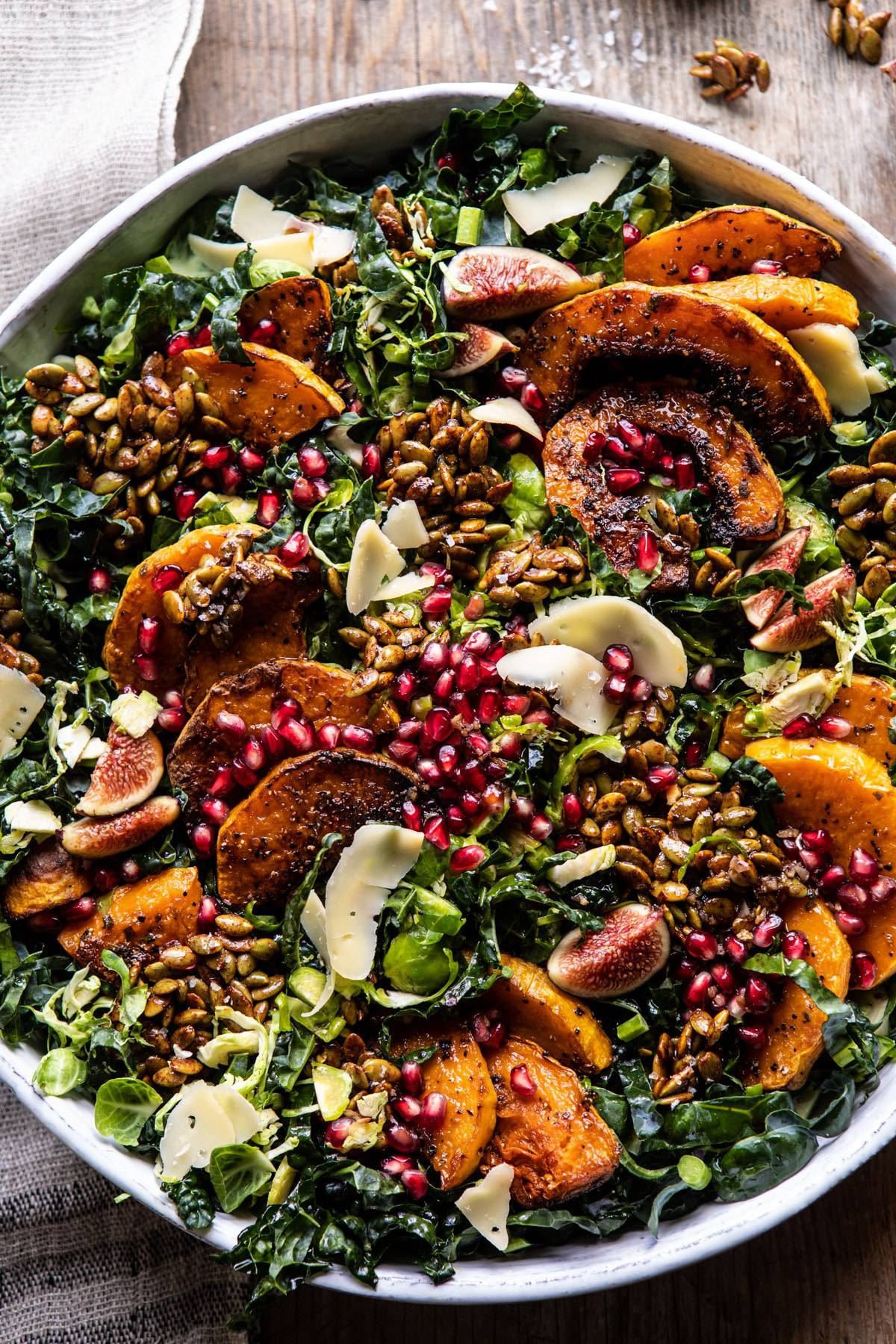 Fall Harvest Roasted Butternut Squash and Pomegranate Salad | halfbakedharvest.com #salad #autumnrecipes #easyrecipes #healthy #butternutsquash
