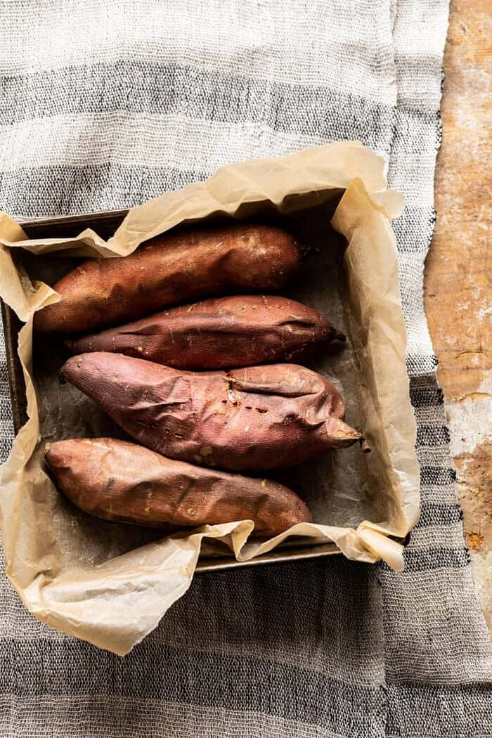 sweet potatoes after baking