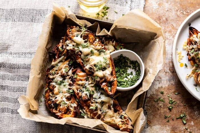 horizontal photo of Healthy Chipotle Chicken Sweet Potato Skins