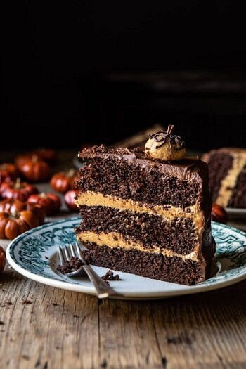 Pumpkin Patch Chocolate Peanut Butter Cake.