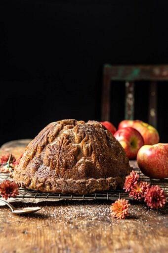Spiced Pecan Apple Cider Doughnut Cake | halfbakedharvest.com #applecider #cake #easyrecipes #fall #autumn #baking