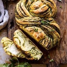 Swirled Garlic Herb Bread.